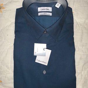 Calvin Klein Steel slim fit performance shirt
